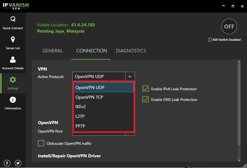 IPVanish Missing SSTP