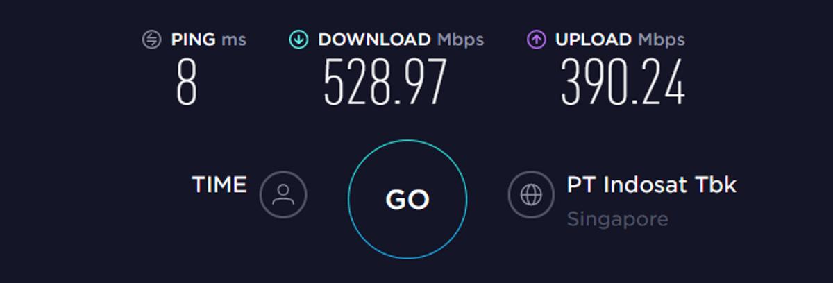 Test di velocità TorGuard Asia VPN disattivata