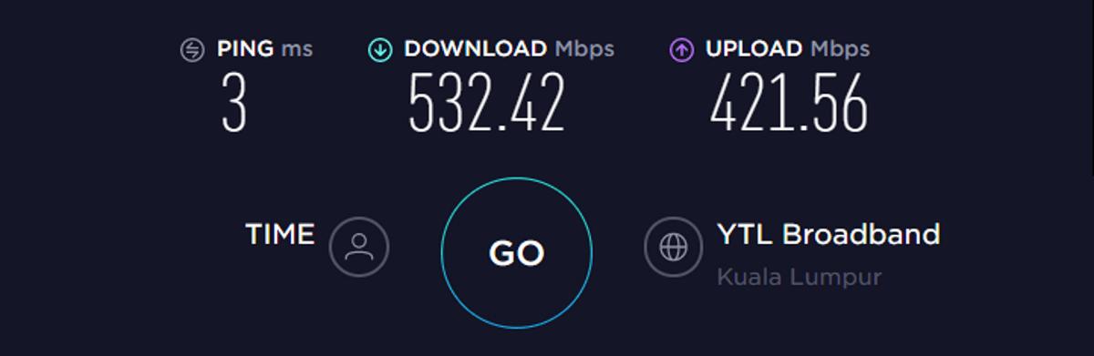 VyprVPN velocità di base senza VPN