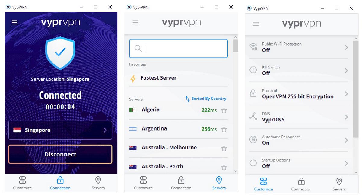 L'app per Windows VyprVPN è fantastica