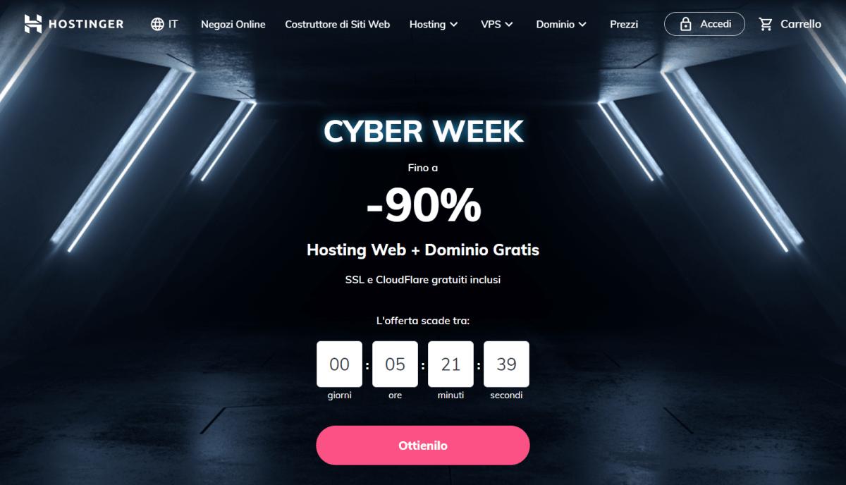 hostinger cyber monday sale 2020